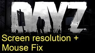dayz screen resolution mouse not working fix