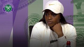 Wimbledon 2018 | Sloane Stephens reflects on a 'tough day'