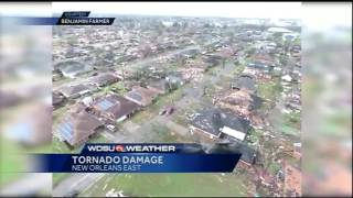 Watch this: Viewer shares drone video of tornado damage in New Orleans East(WDSU viewer Benjamin Farmer shared this drone video of the tornado damage in New Orleans East. Subscribe to WDSU on YouTube now for more: ..., 2017-02-07T21:26:08.000Z)