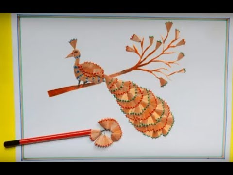 Pencil shaving craft _ craft with waste things _ beast out ...