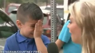 TV Reporter Makes Little Boy Cry On His First Day Of School With One Question