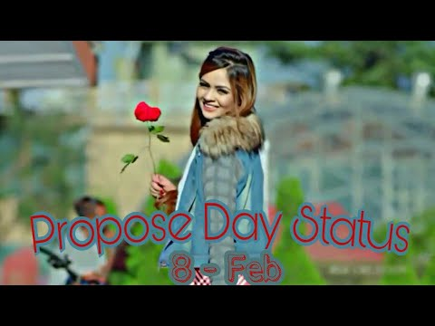8 Feb - Propose Day Special Whatsapp Status Video | Cute Propose | Romantic Propose | Valentine  Day