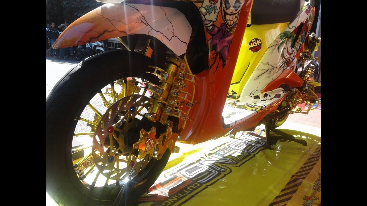 Gaya Modifikasi Honda Vario 125 Thailook Kontes Full Airbrush YouTube