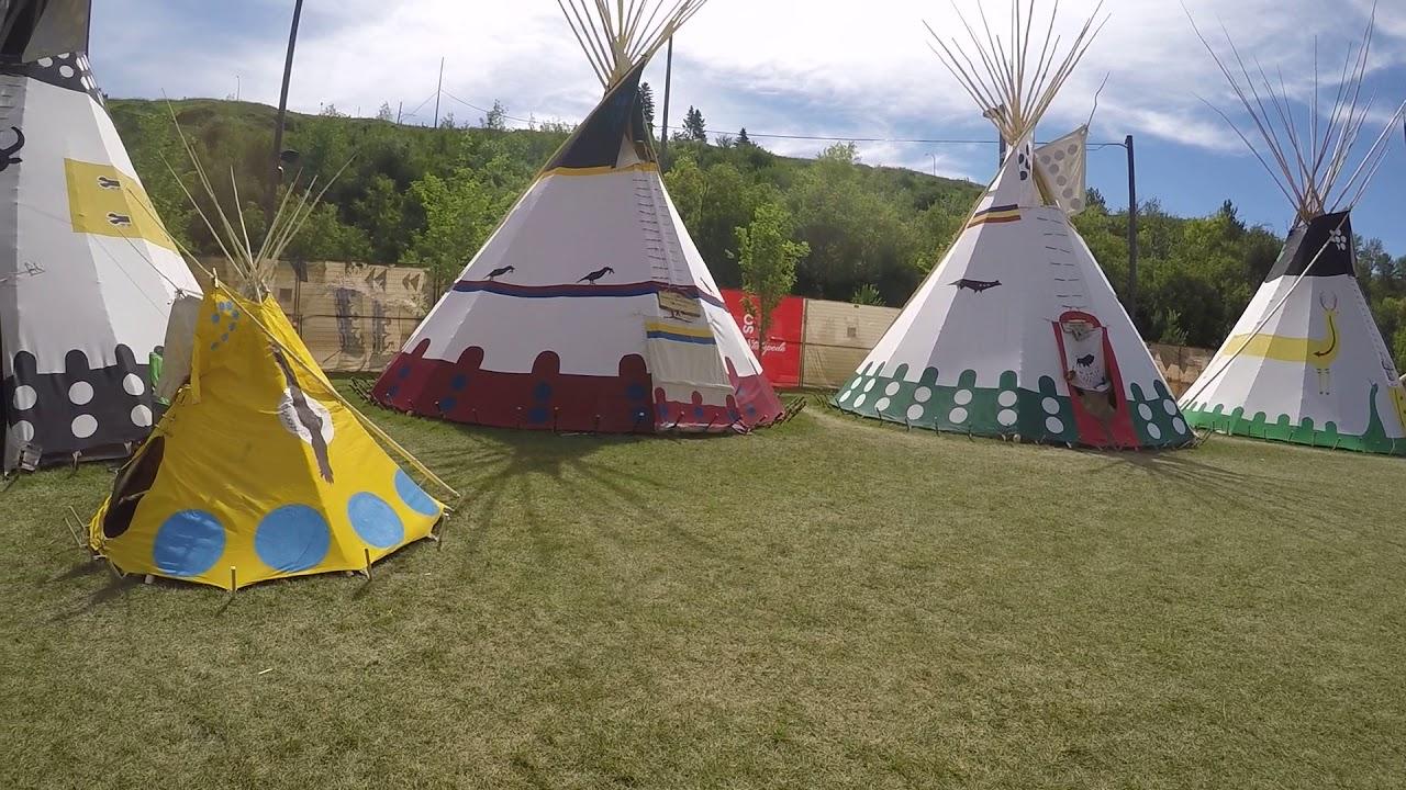Calgary Stampede Indian Village Youtube