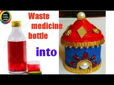 Waste Plastic Syrup Bottle Craft Idea Best Out Of Waste Medicine