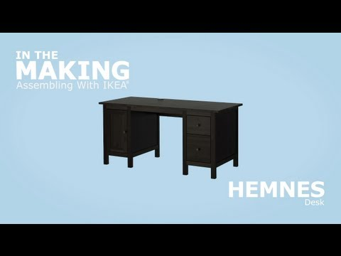 Ikea hemnes desk assembly instructions youtube