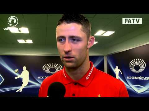 Gary Cahill on England's 2 clean sheets in 4 days, post match vs Ukraine