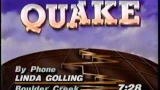 KGO-TV Earthquake Report with Sydnie Kohara