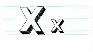How to Draw 3D Letters X - Uppercase X and Lowercase x in 90 Seconds
