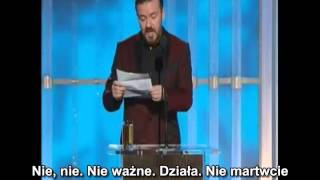 Ricky Gervais 2012 Golden Globes Opening Monologue PL