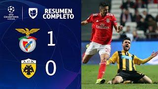 Benfica 1-0 Aek - Gol Y Resumen - Grupo E - Uefa Champions League