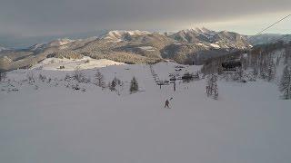 Skifahren und Boarden Steinplatte 07.01.17