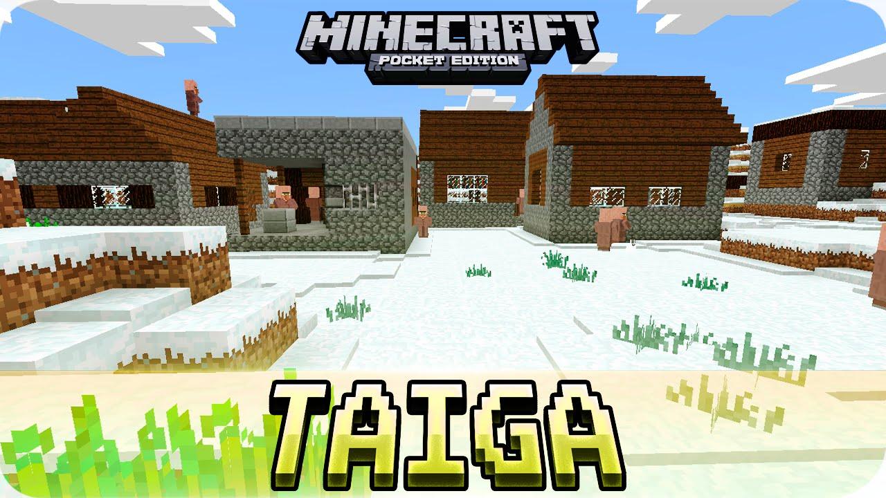 Minecraft Pe Seeds 3 Snow Taiga Villages Abandoned