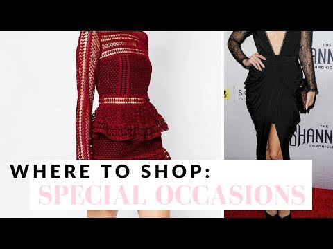 Where To Shop For Special Occasion Dresses