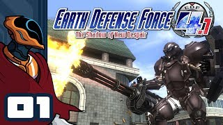 Let's Play Earth Defense Force 4.1 The Shadow of New Despair - PC Gameplay Part 1 - The EDF Deploys!