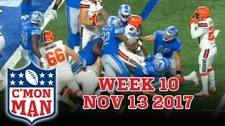 ESPN C'MON MAN! Week 10 for November 13, 2017