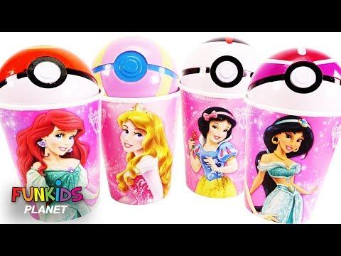Surprise Disney Princess Cups with Slime Toy Surprises