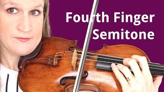 Play SEMITONES with the PINKY in Tune on the Violin