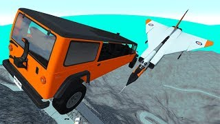Beamng drive - Throwing Cars At Airplanes The Avro Arrow #4