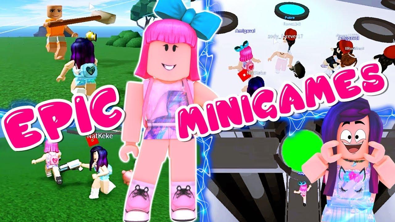 QUEM É A MELHOR NOS MINIGAMES? Epic Minigames   Roblox