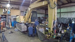 Excavator Swing Bearing Replacement - Installing a Swing Bearing on a CAT 311B