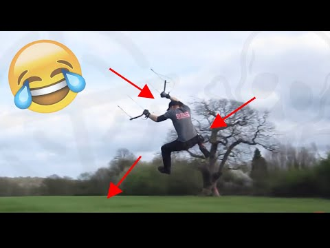 #TOP10 LAND KITESURF CRASHS Compilation | Powerkite edition