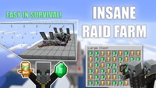 Minecraft EASY RAID FARM Insane Loot! 1.16 Tutorial!