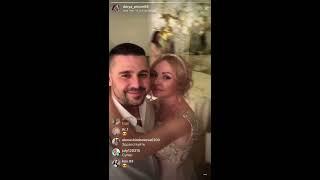 Даша Пынзарь на свадьбе Жени Кузина и Саши Артёмовой, прямой эфир 24-11-2017