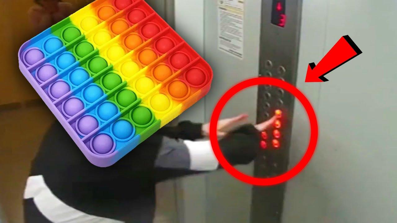 чел думает что лифт — это поп ит
