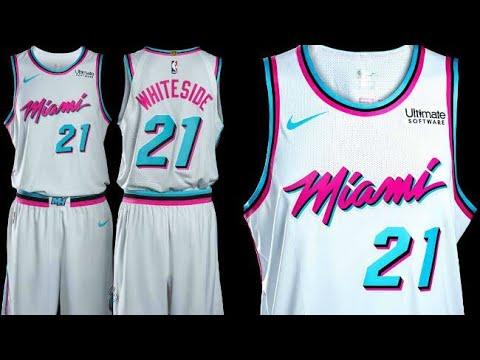 reputable site 5be13 d06dc Lit Miami Vice Jersey & Court NBA 2k18