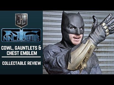 Batfleck Cosplay Update: John Ninco Cowl, Gauntlets & Emblem- Collectable Review!