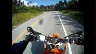 Deer Hits Biker mid-race