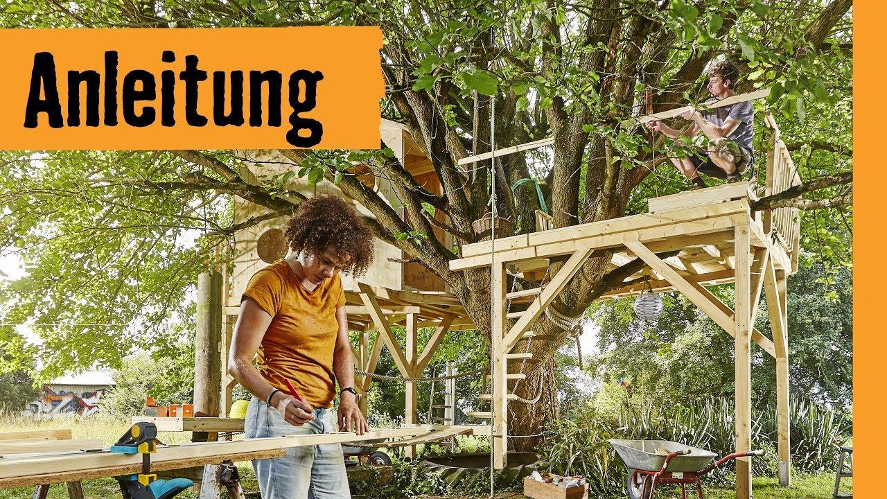 baumhaus bauen auf stelzen hornbach meisterschmiede youtube