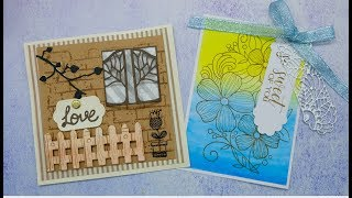 Inloveartshop Background Dies and Stamps Collection|#Crafts#CardTutorial