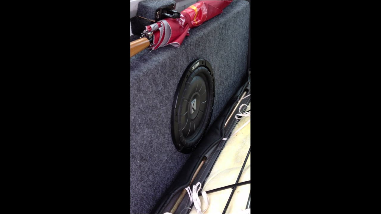 1 Kicker Cvt 10 Quot 4 Ohms Shallow Sub Woofer In Ported Box