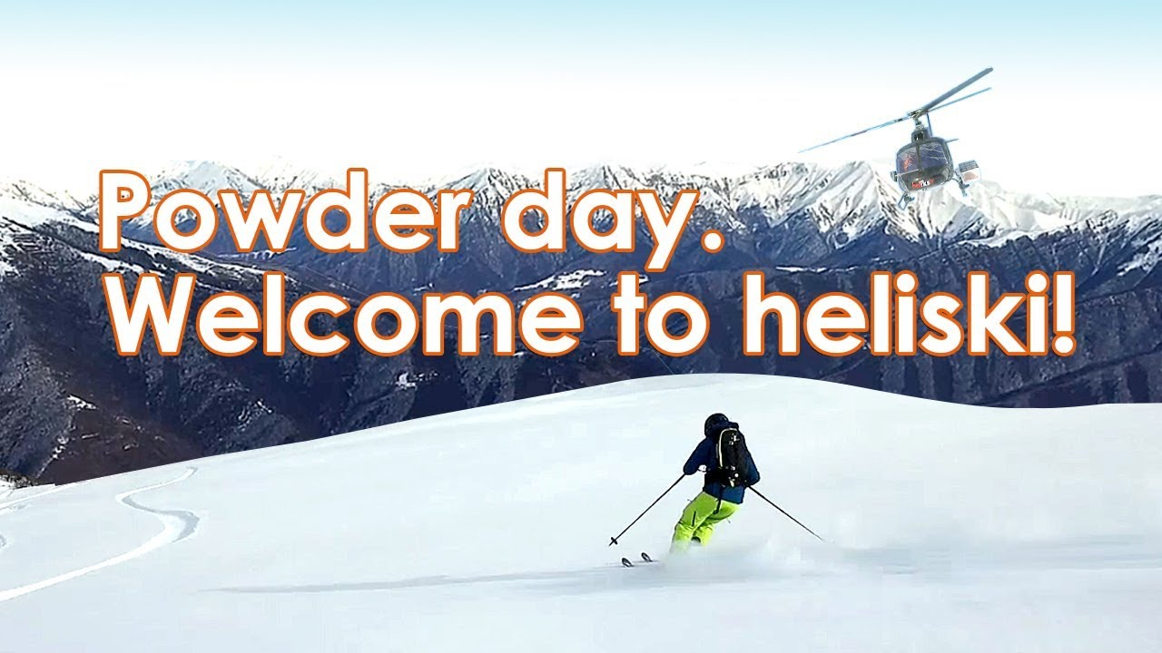 Powder day in Gudauri, Georgia. Off-piste skiing. Freeride. Heliski Caucasus - Heliksir Ltd. 2018.