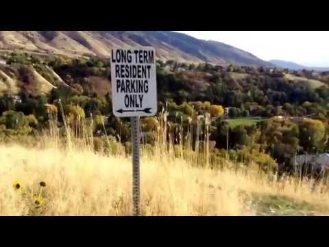 Student Bicycle Tour: Utah State University, Logan, Utah; campus on the hill; many activities
