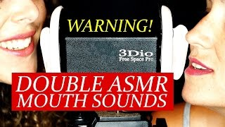DOUBLE ASMR Wet Mouth Sounds! Binaural Ear to Ear w/ Whisper 20+ Minutes