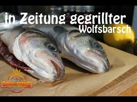 In Zeitung gegrillter Wolfsbarsch - deutsches Grill- und BBQ-Rezept - 0815BBQ