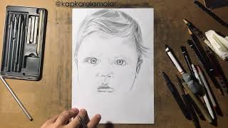 How To Draw a Cute Baby step by step - Kapkaralamalar