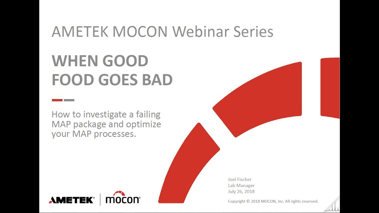 Webinar: When Good Food Goes Bad, Investigating a Failing MAP Package