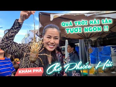 Khám phá Chợ Phước Hải - Vũng Tàu, mặc dù Vân ra chợ trễ, nhưng chợ luôn có hải sản tươi ngon !