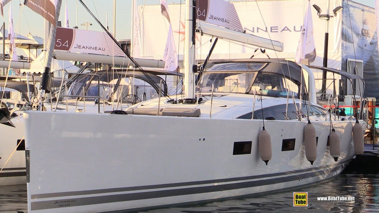 2019 Jeanneau 64 Sailing Yacht - Deck and Interior Walkaround - 2018 Cannes Yachting Festival