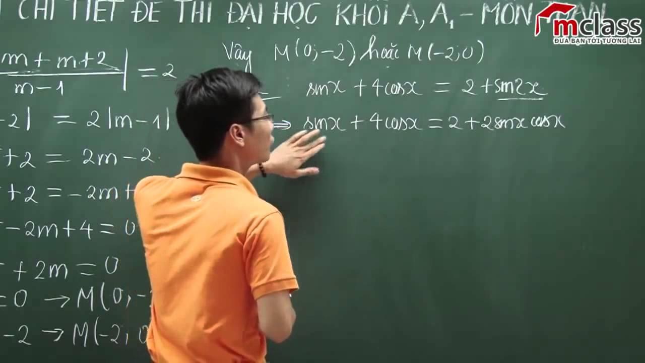 học toán online giải lượng giác khối a 2014