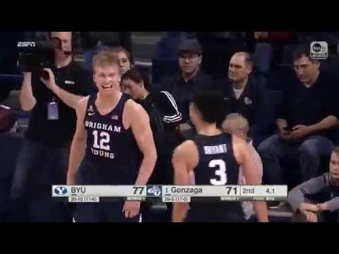 HIGHLIGHTS: BYU Basketball at Gonzaga 2017