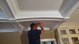 Installing Arched Beams Waffle Coffered Ceiling