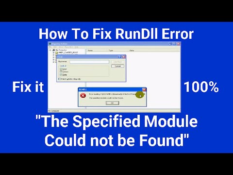How To Fix RunDll Error The specified module could not be found(Very Easy)