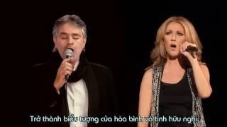 Vietsub  The Prayer    Celine Dion ft Andrea Bocelli  Boston 2008 360p