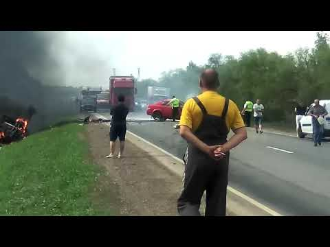 """На трассе """"Самара-Нефтегорск"""" два водителя погибли в ДТП с возгоранием"""