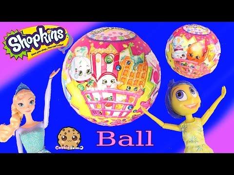 Disney Pixar Inside Out Joy & Frozen Queen Elsa Dolls Piece Together Shopkins 3D BALL Puzzle